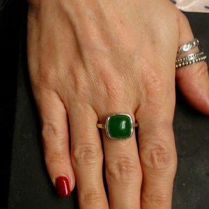 7ctw Genuine Green Jade/925 Sterling